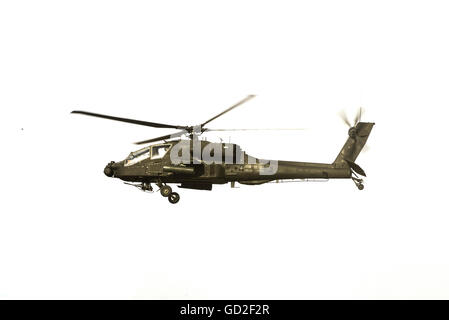 Apache Helicopter Isolated on White Background - Stock Photo
