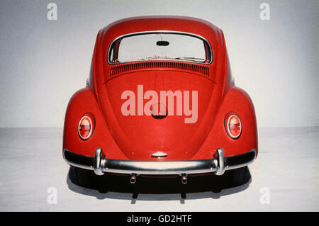 transport / transportation, cars, Volkswagen, VW Beetle 1200, year of construction: 1963, view from behind, vehicle, - Stock Photo