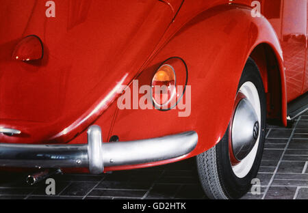 transport / transportation, cars, Volkswagen, VW Beetle 1200, year of construction: 1963, detail, direction indicator, - Stock Photo