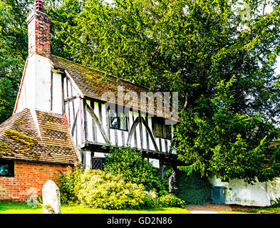 Hartfield (East Sussex) medieval Gate House at the church St Mary the Virgin, - Stock Photo