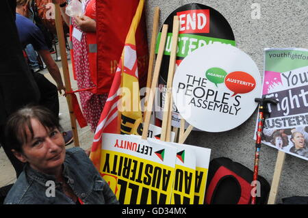 The Peoples' Assembly March, London, UK - Stock Photo