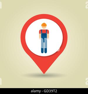working person isolated icon design - Stock Photo