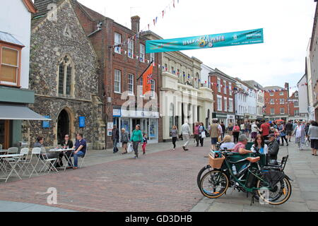 St Olave bookshop and Market House, North Street, Chichester, West Sussex, England, Great Britain, United Kingdom, - Stock Photo