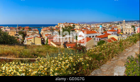 Old town of Chania, Crete, Greece - Stock Photo
