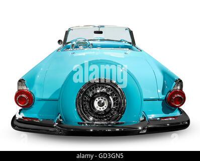 Blue 1956 Ford Thunderbird convertible - Stock Photo