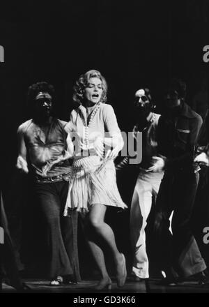 Lauren Bacall, on stage - Stock Photo
