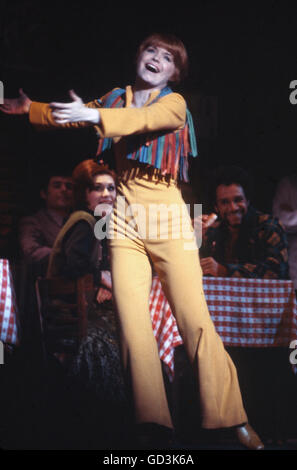 Bonnie Franklin on stage in the 1970 Broadway Musical Applause. - Stock Photo
