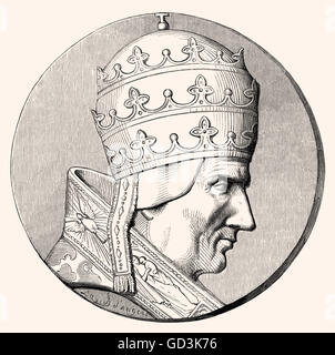 Pope Sylvester II or Silvester II, Born Gerbert d'Aurillac, Gerbert of Aurillac, c. 946 - 1003, Pope from 999 to - Stock Photo