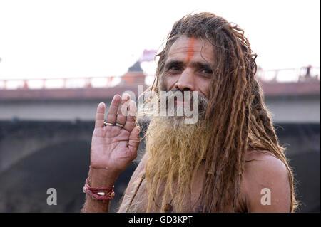 Sadhu, kumbh mela, Nasik, maharashtra, india, asia - Stock Photo
