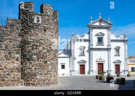 Da Sé, Beja Cathedral and Castle Walls, Alentejo, Portugal - Stock Photo