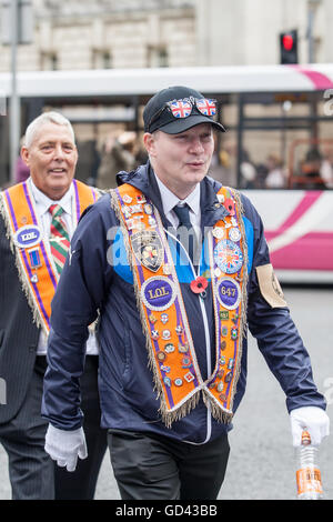 Belfast, UK. 12th July 2016. Orangemen celebrate the Twelfth. It originated during the late 18th century in Ulster. - Stock Photo