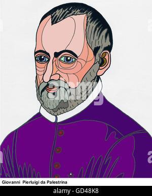 Portrait of Giovanni Pierluigi da Palestrina - Stock Photo