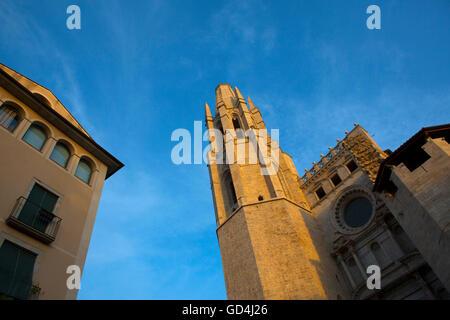 Església de Sant Feliu de Girona, Catalonia. - Stock Photo