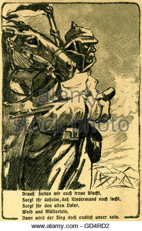 Germany, WWI , postcard , Altona`s day of sacrifice, 18th January 1916 , to the best of the help of war in Altona - Stock Photo