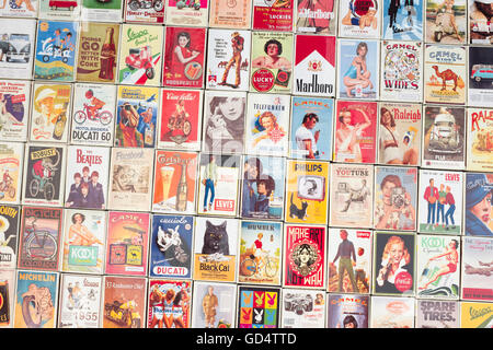 Collection of assorted match boxes - Stock Photo
