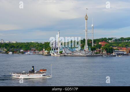 Stockholm tivoli park, Vergnuegungspark Groena Lund in Stockholm, Schweden, Skandinavien, Europa, Gröna Lund, Tivoli, - Stock Photo