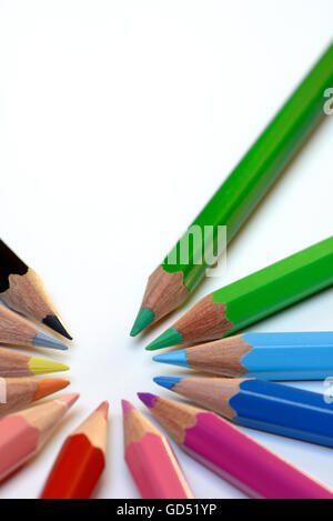 Farbstift, Bunstift, Buntstifte Stock Photo: 111364061 - Alamy