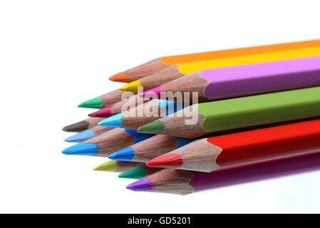 Farbstift, Bunstift, Buntstifte Stock Photo