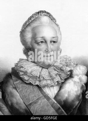 Empress Catherine II of Russia (1729-1796), known as Catherine the Great, was the longest-ruling female leader of - Stock Photo