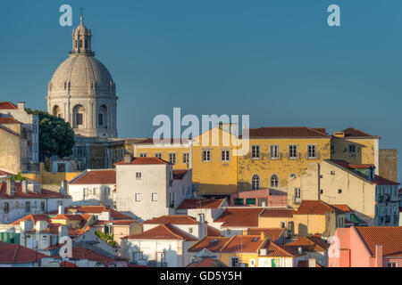 Alfama district, Lisbon, Portugal - Stock Photo