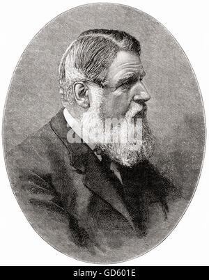 Stafford Henry Northcote, 1st Earl of Iddesleigh,  1818 – 1887, aka Sir Stafford Northcote.  British Conservative - Stock Photo