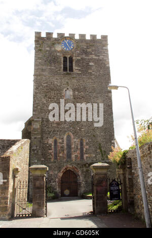 Front entrance St Mary all Saints church Conwy North Wales