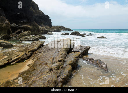 Dollar Cove at Gunwalloe on the lizard coastline in cornwall - Stock Photo