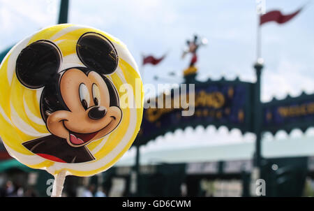 Mickey Mouse Lollipop at Disneyland Paris - Stock Photo