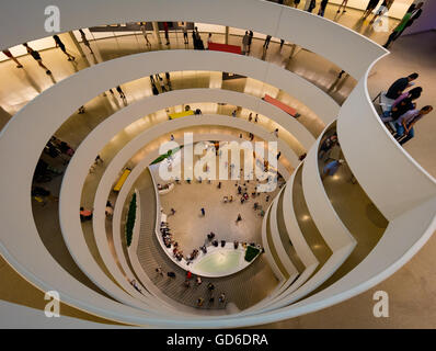 The Solomon R. Guggenheim Museum is an art museum located in New York City - Stock Photo