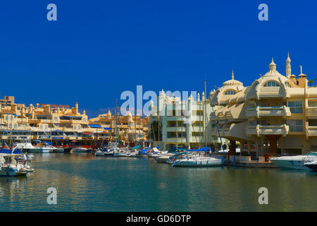 Puerto Marina, Yacht Harbour, Benalmadena, Malaga province, Costa del Sol, Andalusia, Spain - Stock Photo