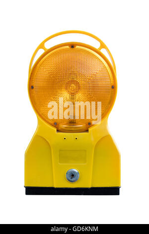 Warning lamp or lantern on an isolated background. - Stock Photo