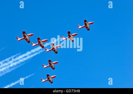 The Canadian Forces Snowbirds aerobatic team, Canadian International Air Show, Toronto, Ontario, Canada - Stock Photo