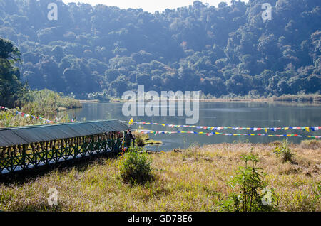 View of Khecheopalri Lake, Pelling, Sikkim, India - Stock Photo