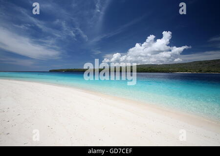 the dreambeach at the Jaco Island at the town of Tutuala in the east of East Timor in southeastasia. - Stock Photo