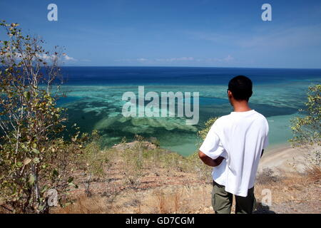 the Dollar Beach near the city of Dili in the south of East Timor in southeastasia. - Stock Photo