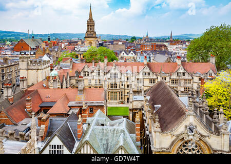Oxford cityscape. England - Stock Photo