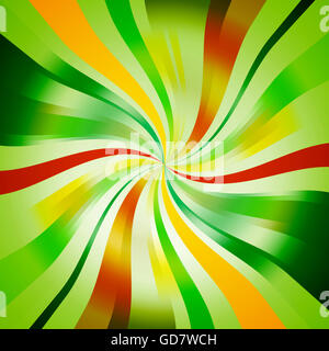 Abstract Green Seasonal Spiral Background