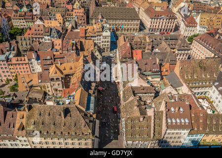 Old Town Strasbourg in Alsace France - Stock Photo