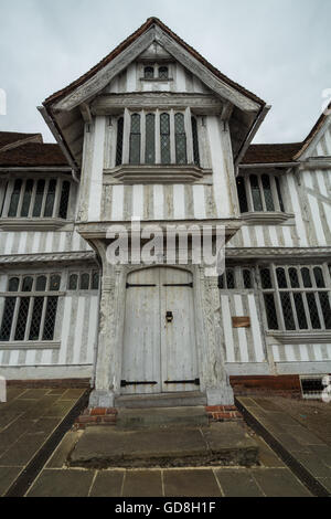 entrance to The Guildhall of Corpus Christi. Lavenham, Suffolk, England - Stock Photo