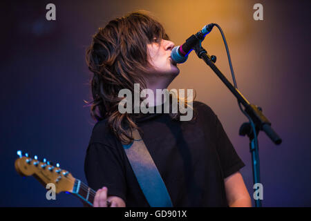 London, UK. 13th July, 2016. Courtney Barnett performs on stage at Somerset House on July 13, 2016 in London, England. - Stock Photo