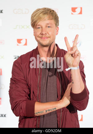 Finnish musician Samu Haber attends the annual programme presentation of media comapny ProSiebenSat.1. in Hamburg, - Stock Photo