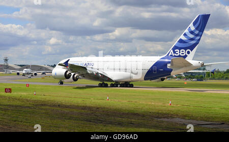 Farnborough, Hampshire, UK. 14th July, 2016. 4 th Day of the Farnborough International Trade Airshow. the   The - Stock Photo