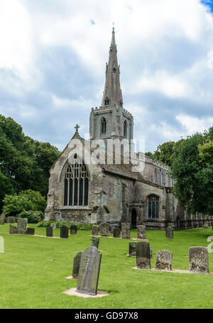 St. Mary and The Holy Rood Church, Donington, Lincolnshire, England UK - Stock Photo