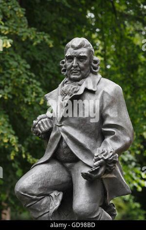 Erasmus Darwin statue, 12 December 1731 – 18 April 1802. Beacon Park, Lichfield, Staffordshire, England, UK - Stock Photo