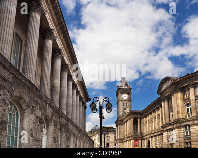 Town Hall and Council House Victoria Square Birmingham West Midlands England - Stock Photo
