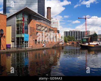 Regency Wharf on the Birmingham Canal at Gas Street Basin Birmingham West Midlands England - Stock Photo