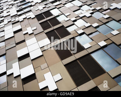 The Cube Office Retail and Residential Building in Birmingham West Midlands England - Stock Photo