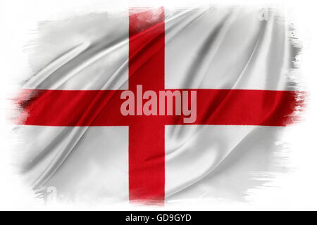 St George's Cross flag on plain background - Stock Photo