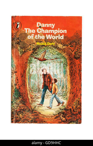A  Danny The Champion of the World book by Roald Dahl on a white background - Stock Photo
