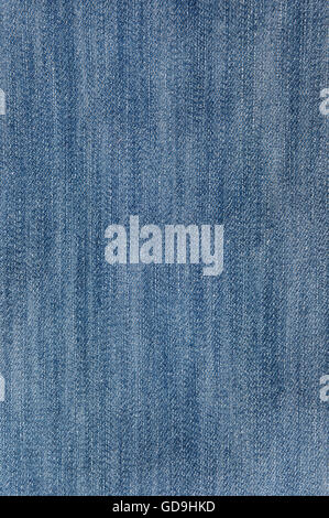 Blue jeans cotton fabric, closeup, texture, background - Stock Photo